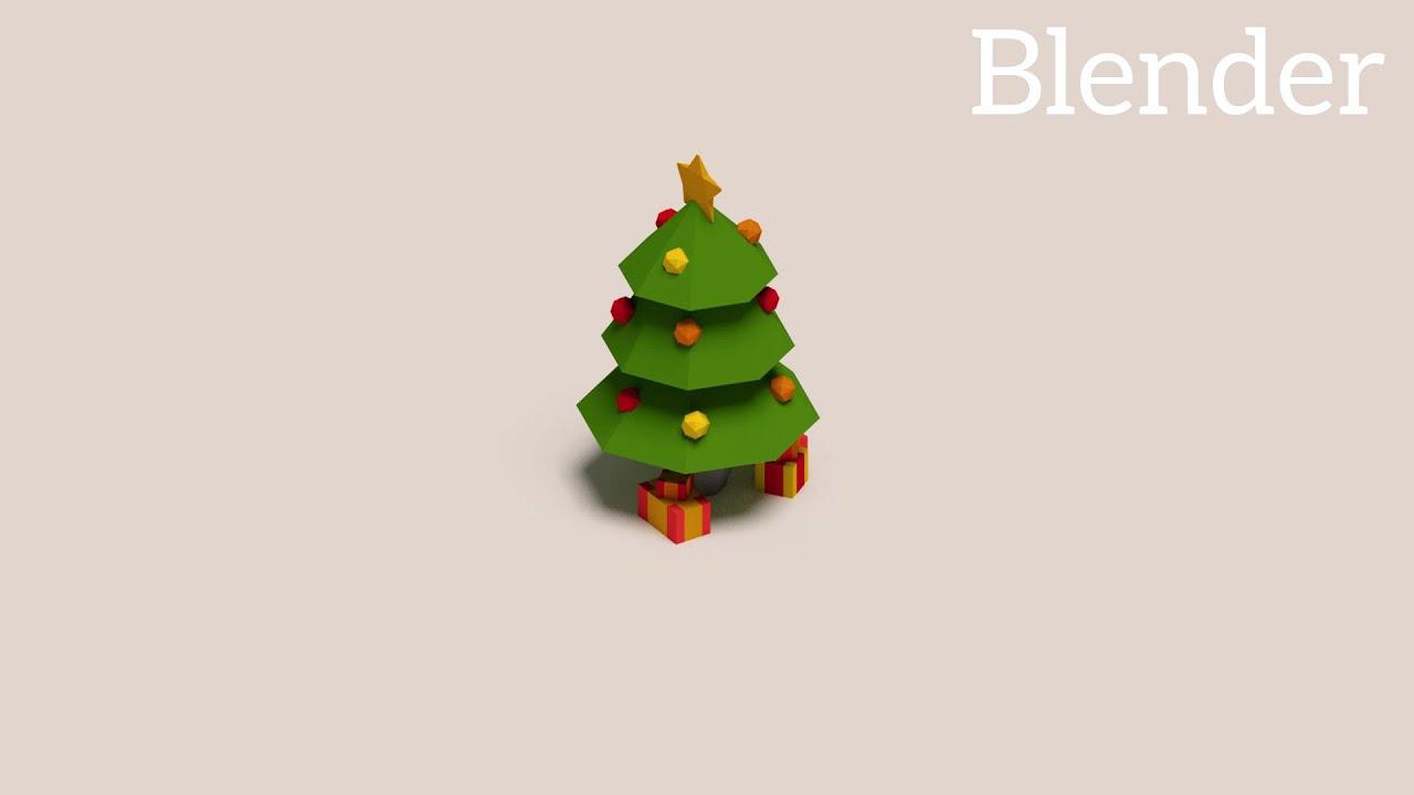 Blender Tutorial: Low Poly Christmas Scene - YouTube