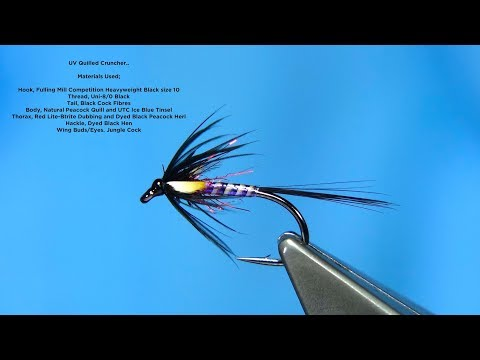Tying a UV Quilled Black Cruncher by Davie McPhail