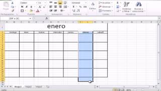 como hacer  un calendario