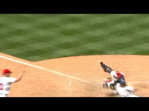 Bryce Harper nails Pete Kozma at home with great throw