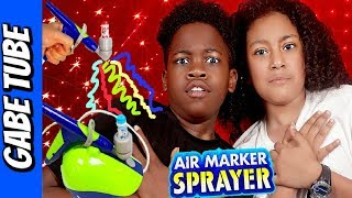 Top Toys CRAYOLA AIR MARKER AIRBRUSH KIT Review + Unboxing Gabe Tube TV
