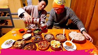 MASSIVE Bhutanese Food Dinner - 15+ Spicy Dishes! + Sightseeing in Thimphu   Bhutan
