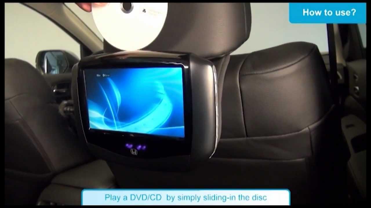 Honda Rear Entertainment System tutorial - YouTube