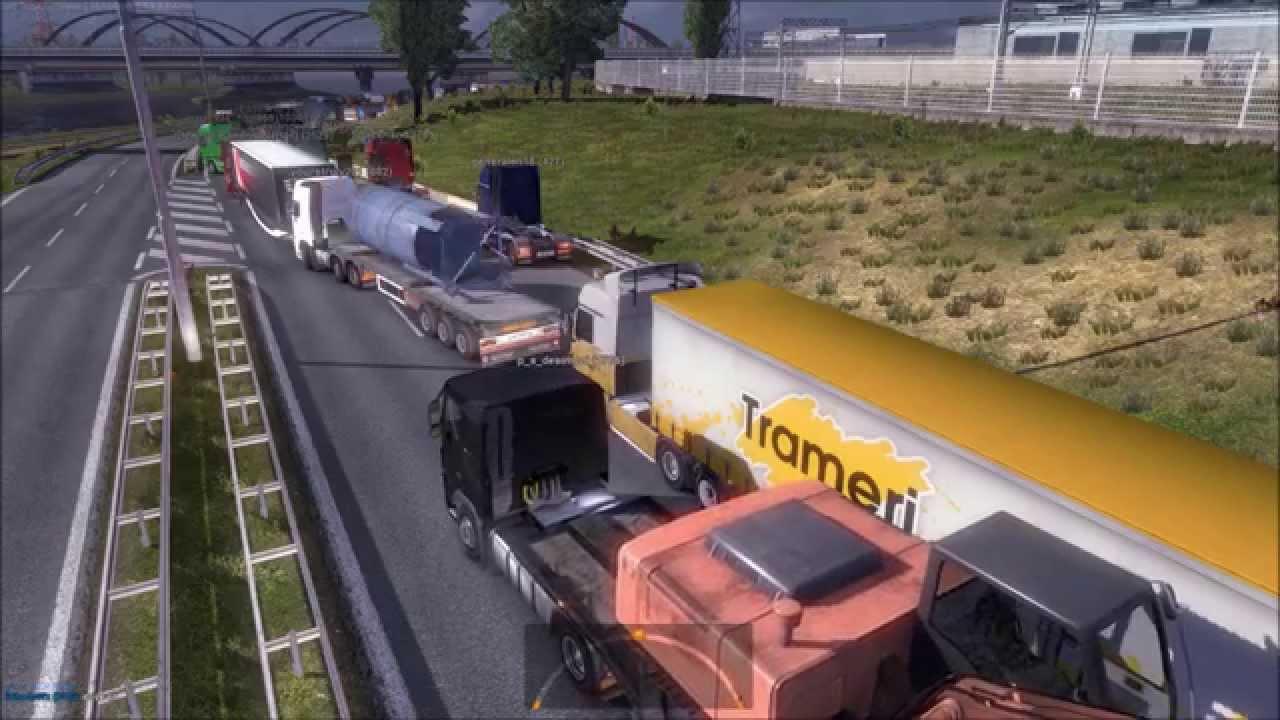 ETS2 Multiplayer | Traffic Jam (Euro Truck Simulator 2)