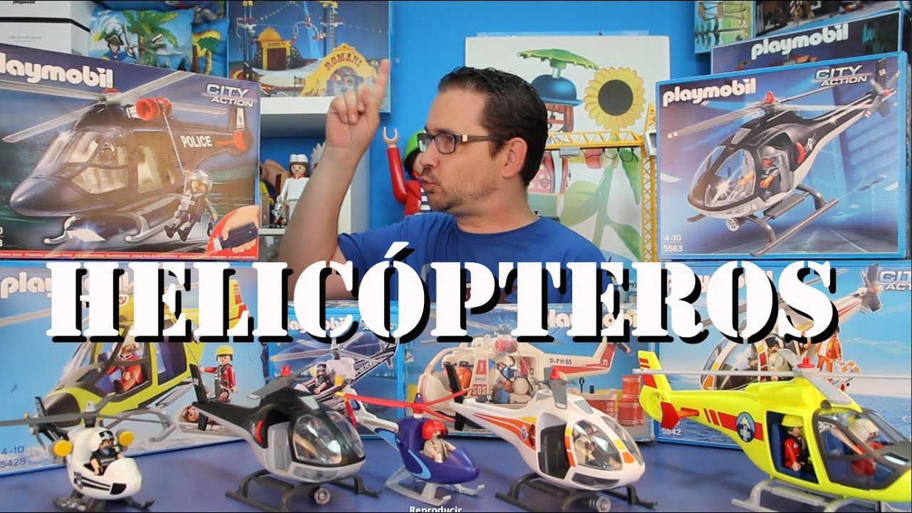 Playmotv helicopteros de playmobil youtube for Helicoptero playmobil