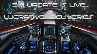 Star Citizen 3.4 Update Gameplay | Delivery Missions | Safe way to make money