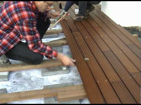 montage holzterrasse 2002 youtube. Black Bedroom Furniture Sets. Home Design Ideas