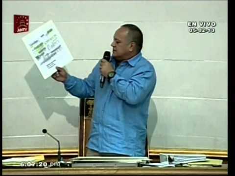 Diosdado Cabello muestra cheques pagados a Richard Mardo para su campaña en Aragua