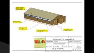Plans bâtiment agricole