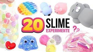 20 NEUE SCHLEIM Experimente!!! 😱Verrückter DIY SLIME! SLIME 😍ASMR Deutsch
