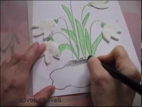 Анимация распускающиеся подснежники