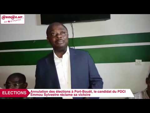 Annulation des élections à Port Bouët : Le candidat du PDCI Emmou Sylvestre réclame sa victoire