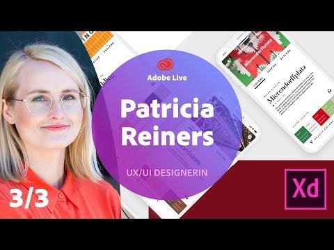 UX/UI Design mit Patricia Reiners - Adobe Live 3/3