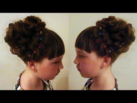 Детская причёска. Модель. Видео-урок.