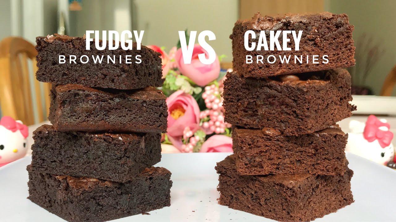 perbedaan fudgy brownies dan cakey brownies