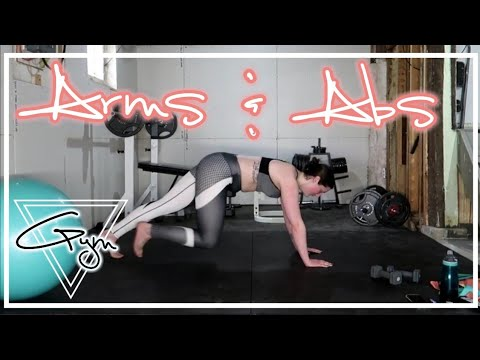 Slim Ab's & Arms Sculpt At Home Workout - Caitlyn Kreklewich - 동영상