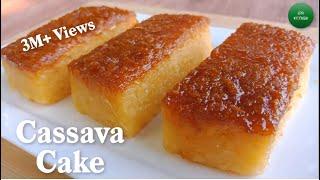 Easy Cassava Cake Recipe  Cassava Cake Using Fresh Cassava  How to Cook Cassava Cake