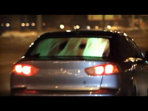 Проекция на заднее стекло автомобиля.