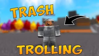 TRASH TROLLING in SUPER POWER TRAINING SIMULATOR | Roblox