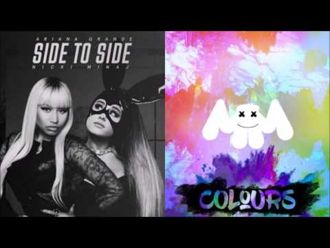 Side Colours (mashup) - Marshmello ft. Ariana Grande & Nicki Minaj