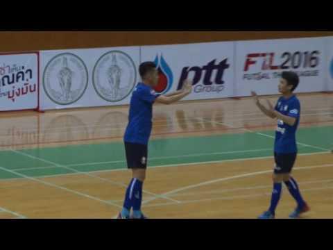 ไฮไลท์ฟุตซอลอุ่นเครื่อง ทีมชาติไทย 3-4 ทีมรวมออลสตาร์บราซิล ฟุตซอลไทยแลนด์ ลีก