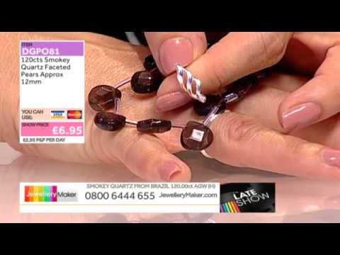 Ruby Zoisite or Larimar for your jewelery making creations: JewelleryMaker LIVE 08/05/2015