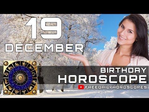 December 19 - Birthday Horoscope Personality