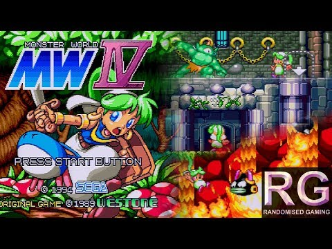 Monster World IV - Sega Mega Drive - Intro & first hour of gameplay real console [HD 1080p 60fps]