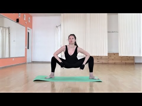 warmup with a ballet stretch band oversplits training