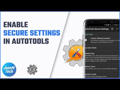 How to enable Secure settings in AutoTools - YouTube