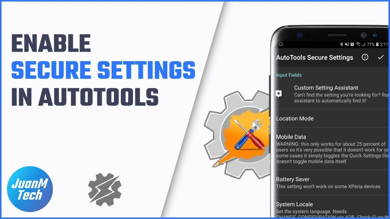 How to enable Secure settings in AutoTools