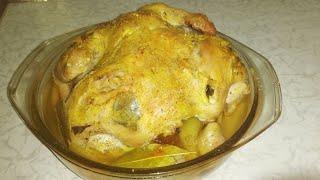 Готовим запечённую курицу с картошкой в духовке Рецепт пальчики оближешь