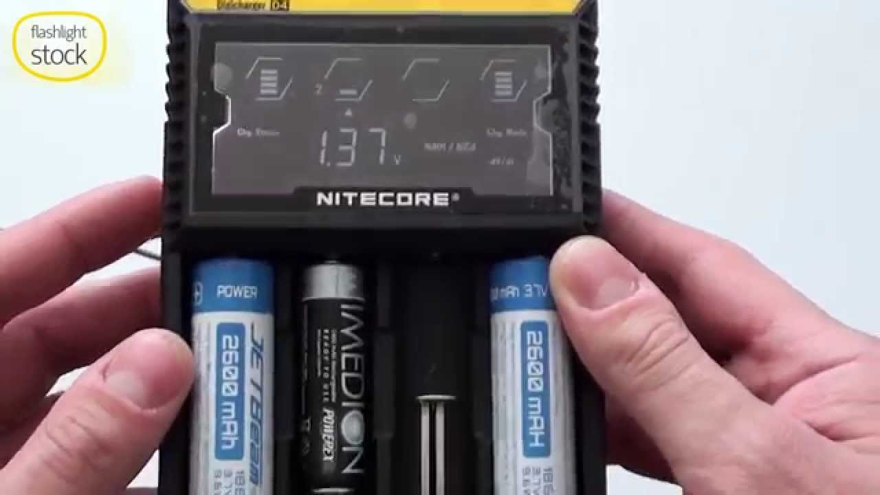 Nitecore D4 Digicharger Smart Battery Sharger Unpacking