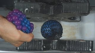 Stress Ball Crushed With A Hydraulic Press