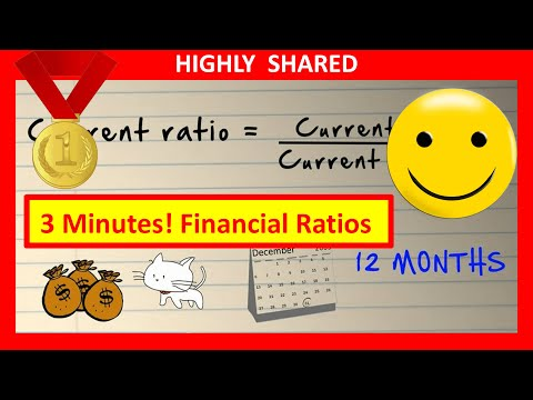 🔴  3 Minutes! Financial Ratios & Financial Ratio Analysis Explained & Financial Statement Analysis