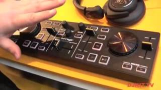 Behringer DJ Controller CMD MICRO Compact 2-Deck DJ MIDI Controller @ Musikmesse 2012 with DJkit.tv