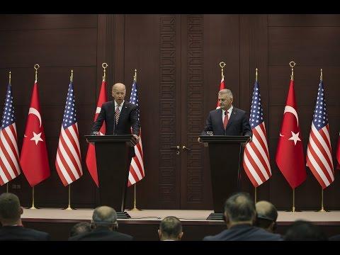 Başbakan Yıldırım, ABD Başkan Yardımcısı Biden ile birlikte ortak basın toplantısı düzenledi