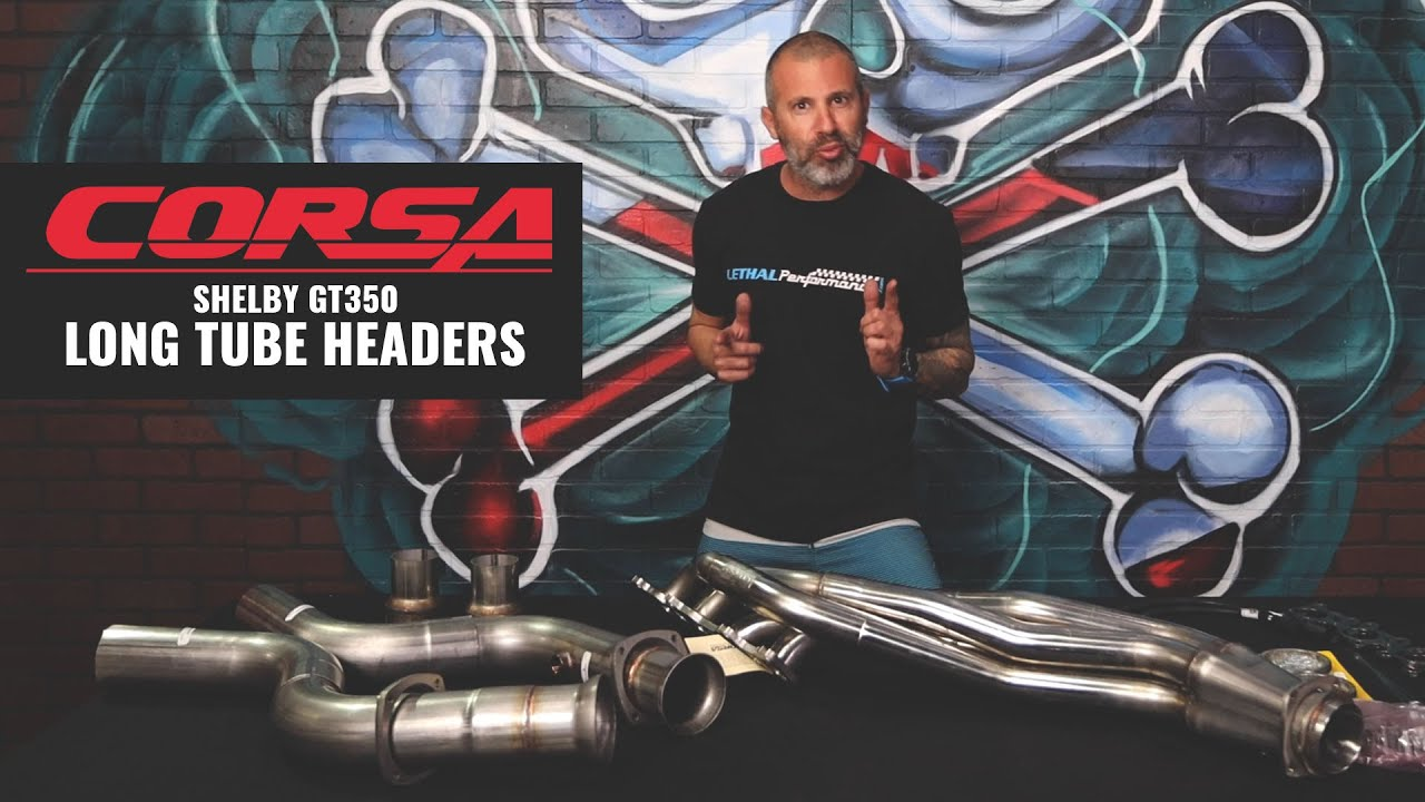corsa gt350 and gt500 headers packages