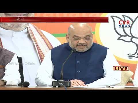 BJP Chief Amit Shah Speech From BJP Office In Hyderabad | CVR NEWS