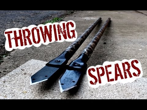 EASY $3 STEEL TIP THROWING SPEARS!