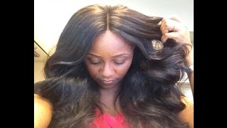 Versatile & Natural Looking Sew In with Lace Closure   TUTORIAL