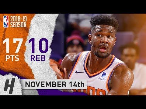 Deandre Ayton Full Highlights Suns vs Spurs 2018.11.14 - 17 Points, 10 Reb