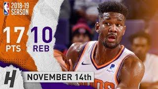 Deandre Ayton Full Highlights Suns vs Spurs 2018.11.14 - 17 Points, 10 Reb thumbnail