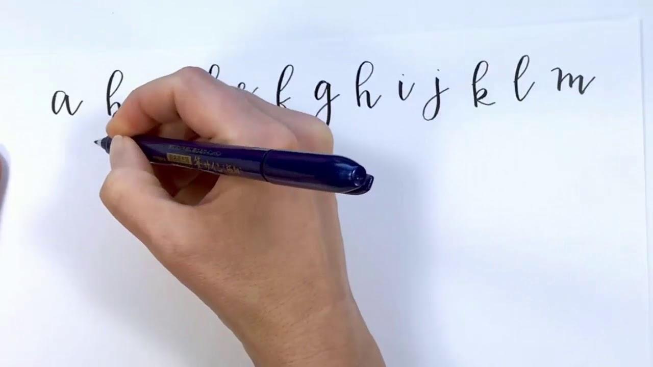 Brush Lettering Alphabet in Real Time