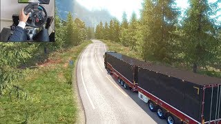 Mercedes-Benz New Actros   A Norwegian delivery - Euro Truck Simulator 2   Logitech g29 gameplay
