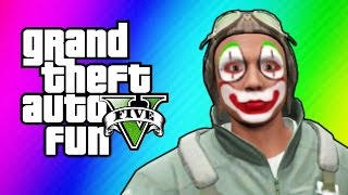 GTA 5 Online Funny Moments - Flight School Day 2, Glitchy Titan Planes & More!