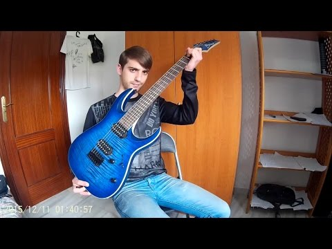 Review Ibanez RGA42FM Blue Lagoon Burst Flat + Sound Test