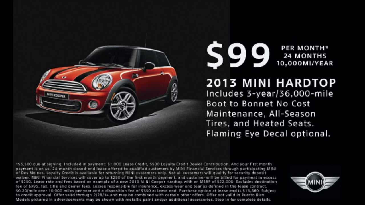 the 99 mini cooper hardtop lease it 39 s not complicated youtube. Black Bedroom Furniture Sets. Home Design Ideas