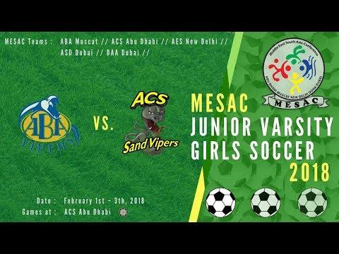 JV Girls Football MESAC 2018: ABA vs ACS at ACS