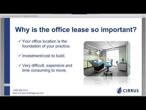 Webinar: Minimize Costs in Your Dental Office Lease & Convert Cash Flow Into Big Retirement Savings